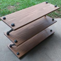 Handmade Wood And Pipe Shoe Stand / Rack / Organizer by ReformedWood on Etsy