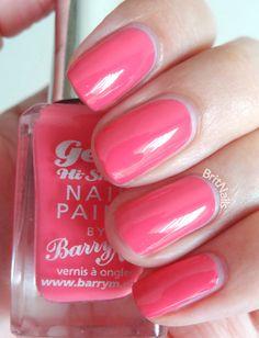 Barry M Gelly Hi-Shine - Grapefruit Cute Nail Polish, Nail Polish Trends, Cute Nails, My Nails, Nail Polishes, Funky Nail Art, Funky Nails, Nail Paint Shades, Barry M Nails