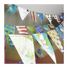 Decorate your home for the next big party, with this easy-to-make Recycled Party Bunting.