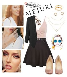 """""""Untitled #277"""" by alyinwonderlust773 ❤ liked on Polyvore featuring Charlotte Tilbury, New Look, LE3NO, Christian Louboutin, contestentry and jenchaexmejuri"""