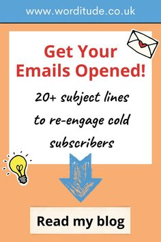 Read my blog for over 20 of my best subject line ideas and examples to help give you inspiration for the marketing emails for your business. #smallbusinessideas #marketing #smallbusiness Email Marketing Design, Marketing Goals, Email Marketing Strategy, Marketing Ideas, Business Marketing, Online Marketing, Engagement Emails, Email Subject Lines, Best Email