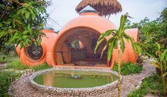 casa circular en forma de domos