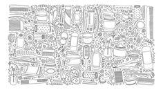 Раскраски для девочек - Мода, Одежда.       Огромная раскраска - http://oboiraskraski.ru/products/14223653