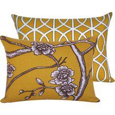 FREE SHIPPING Yellow Decorative Pillow by ChloeandOliveDotCom, $38.50