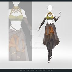Fashion Drawing (OPEN) Adoptable Outfit Auction 241 by JawitReen on DeviantArt -