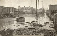 Edge of Capitol Hill, Denver FLood, July 14, 1912