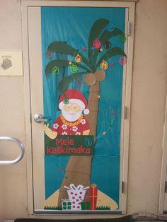 This is so my kind of door!!! Christmas door decoration