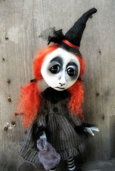 Gothic Doll Halloween Witch  Millicent.