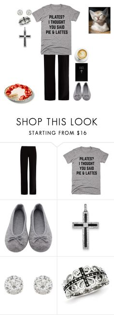 """""""Funny Pajamas"""" by polymorphing ❤ liked on Polyvore featuring Skin, Kevin Jewelers and Accessorize"""