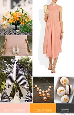 Color Palette: Peach Sorbet, Clementine and Onyx