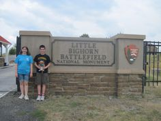 """Ollie visited the Little Bighorn Battlefield National Monument, home of Custer's famed """"last stand."""" The battle fought here is one of the most famous in America's history."""