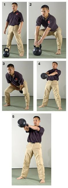 Russian Kettlebell Swing and the Turkish Get Up....that's what I'm talkin' bout!