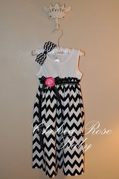 Gorgeous Chevron Baby and Toddler Dress Baby