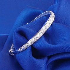 Sparking Starry Fashion Woman's Silver Bangle -USD $49.95