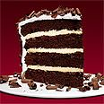 Devil's Food Cake with Peppermint Frosting - The cake is layered with dark chocolate ganache and white chocolate cream, then topped with marshmallowy peppermint frosting.