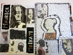 beautiful layout and use of materials Sketchbook Layout, Gcse Art Sketchbook, Sketchbook Ideas, Sketchbook Inspiration, Roy Lichtenstein, David Hockney, Art Sketches, Art Drawings, Pop Art