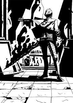 Dark Souls 3: Sir Vilhelm. From darkchurch.tumblr.com