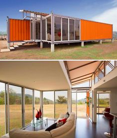 Container House - Build Your Own Eco House Cheap: 10 DIY Inspirations - Who Else Wants Simple Step-By-Step Plans To Design And Build A Container Home From Scratch? Building A Container Home, Container Buildings, Container Architecture, Shipping Container Home Designs, Container Design, Shipping Containers, 40 Container, Container Office, Casa Pop