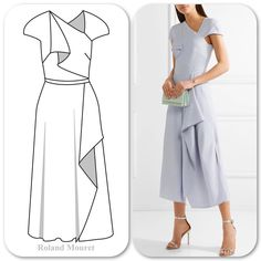 I saw a video of how this dress moves on Net-a-porter last night. #beautiful Makes for a nice #easterdress option #fashion #sewing #illustration #technicaldrawing #flatdesigns #sketch #sketching #drawing
