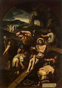 12. Francisco Ribalta - 1582. Preparativos para la crucifixión de Xto. Hermitage. Fuerte sesgo manierista e iluminación veneciana.
