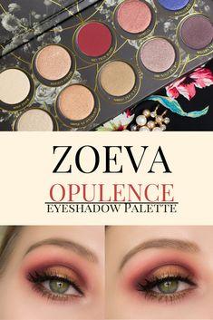 ZOEVA Opulence Lidschattenpalette - Swatches und Augen Make Up