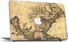 """GEL Apple MacBook Pro 13"""" 15"""" 17"""" Skin Cover w/ Apple Cutout - Old Map. Sold by stickitskins for $35 on etsy!"""