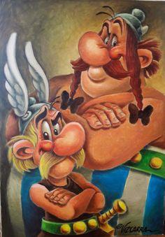 Asterix E Obelix, Empty Canvas, Copic Art, Bunt, Vikings, Mickey Mouse, Cartoon, History, Pictures