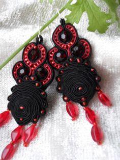 Sutasz Norki - soutache jewellery: stycznia 2011 Soutache Earrings, Crochet Earrings, Jewellery, Flamingo, Malachite, Jewels, Schmuck, Jewelry Shop, Jewlery