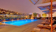 Andaz West Hollywood: Andaz has one of the city's hottest rooftops, with a chic cabana-laden pool.