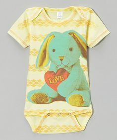This Yellow & Cyan Bunny Bodysuit - Infant by Clever Birds is perfect! #zulilyfinds http://www.zulily.com/invite/kcrim608