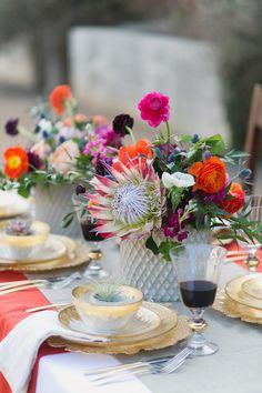 Spanish style – Mediterranean Home Decor Decoration Table, Reception Decorations, Wedding Centerpieces, Tall Centerpiece, Wedding Tables, Centrepieces, Spanish Style Weddings, Spanish Wedding, Spanish Party