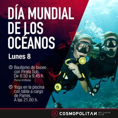 Si te gustan las actividades acuáticas no puedes dejar de celebrar con nosotros este próximo lunes el #DíaMundialDeLosOcéanos