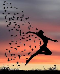 Use Your Wings // Beautiful Silhouette Photography by Dominic Liam ( Silhouette Photography, Dance Photography, Nature Photography, Dance Pictures, Art Pictures, Silhouette Painting, Ballet Art, Jolie Photo, Moon Art