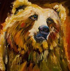 ARTOUTWEST HUMOR BEAR WILDLIFE ART Oil Painting By Diane Whitehead -- Diane Whitehead