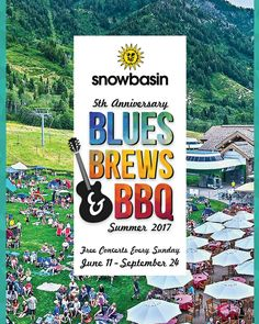 We are excited to announce our 5th Anniversary Blues Brews and BBQ Sunday Concert Series for this upcoming summer! The first show starts Sunday June 11...until then enjoy our Spotify playlist of what's to come. Link in bio  #snowbasinresort #snowbasinbbbbq