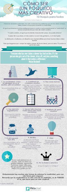 Cómo ser un poco más creativo Por: @Hydra Social Media #infografia #infographic