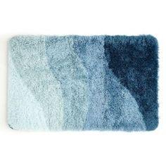 17 by 24 Kess InHouse Iris Lehnhardt Rough Sea Ocean Blue Memory Foam Bath Mat