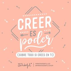 "17.5 mil Me gusta, 138 comentarios - Mr. Wonderful Official (@mrwonderful_) en Instagram: ""¡Y tú puedes, créeme! #mrwonderfulshop #felizmiércoles Believing is power (especially if you…"""