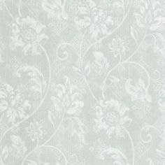 The Wallpaper Company 56 sq. ft. Blue Romantic Floral Trail Wallpaper-WC1282651 at The Home Depot