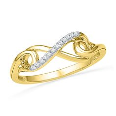 Now available on our store: 10k Yellow Gold R... Check it out here! http://shirindiamond.net/products/10k-yellow-gold-round-diamond-womens-infinity-love-fine-band-1-20-cttw-101354?utm_campaign=social_autopilot&utm_source=pin&utm_medium=pin
