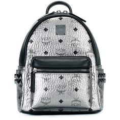 MCM logo print backpack ($948) ❤ liked on Polyvore featuring bags, backpacks, purses, grey, rucksack bags, mcm backpack, gray bag, grey backpack and day pack backpack