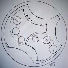 Expecto Patronum in Circular Gallifreyan