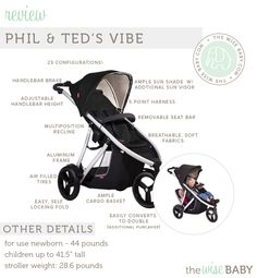 Win a Phil & Ted's Vibe stroller!  The giveaway starts today, April 28th and ends Saturday May 3rd at 3pm CST.