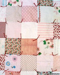 Memory quilt made from baby clothes.
