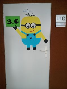 mimoň na dveře třídy classroom door minion Organization, Teaching, Logos, Ideas, Doors, Getting Organized, Organisation, Logo, Tejidos