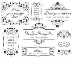 Monogram Frame Vintage Digital Flourish Border Flower Clip Art Clipart Classic Design DIY Wedding Invitation Supplies INSTANT DOWNLOAD 10448. $6.50, via Etsy.