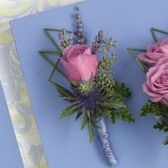 Pink Rose Boutonniere - Proms or Weddings