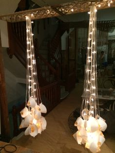 Drop lamps  Glass stalagmites   By LDC