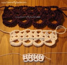 Narrow Cambray Lace or Granny Square Style Edging