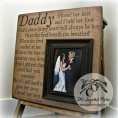 cant listen to that song anymore without bawling - but still a beautiful idea...make this for your Dads now ladies - no matter how much you love your new husband, your Daddy will always be your real hero...and we never get to keep them as long as we wish for!
